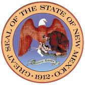 "New Mexico's first seal was designed shortly after the organization of the Territorial Government, in 1851.  The original seal has long since disappeared, possibly as part of the artifacts placed into the cornerstone of the Soldiers Monument in the Santa Fe Plaza.  Imprints of the original seal show it consisted of the American Eagle, clutching an olive branch in one talon, and three arrows in the other.  Along the outside rim was the inscription ""Great Seal of the Territory NM."" 